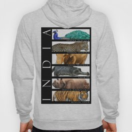 Animals of India Hoody