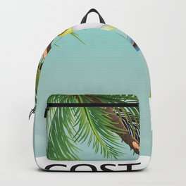 Costa Rica Tree Frog travel poster. Backpack