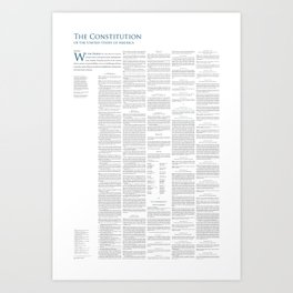 Constitution of the United States Art Print