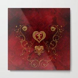 Wonderful hearts with angel Metal Print