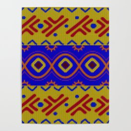 Ethnic African Knitted style design Poster