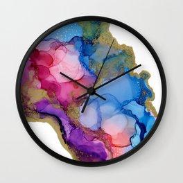 Golden River Flow Wall Clock