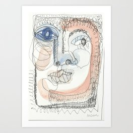 face2 Art Print