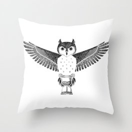 Owls Well That Ends Well Throw Pillow