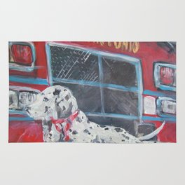 Fire Station Dalmation Rug