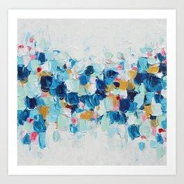Elemental Azure Art Print
