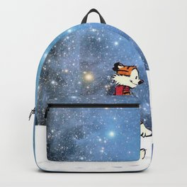 Calvin Hobbes snow christmas Backpack