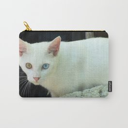 Blue And Green Eyed Cat Carry-All Pouch