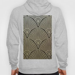 Golden Art Deco pattern Hoody