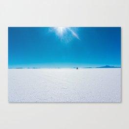 Jeep on the Salar de Uyuni, Salt Flats, Bolivia Canvas Print