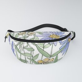 Asters and Wild Flowers Botanical Nature Floral Fanny Pack