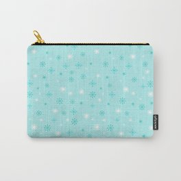 AFE Turquoise Snowflakes Carry-All Pouch