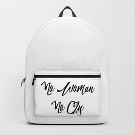 """""""No woman no cry"""" pattern Backpack"""