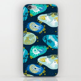 Cephalopods through time iPhone Skin