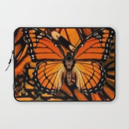 ORANGE MONARCH BUTTERFLY PATTERNED ARTWORK Laptop Sleeve