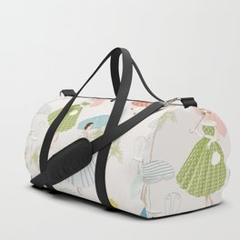 Women With Parasols Mid Century Summer Duffle Bag