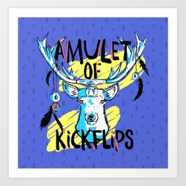 Amulet of Kickflips Art Print