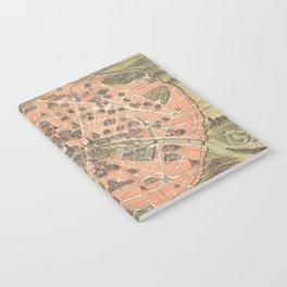 Vintage Paris France Monument Map (1882) Notebook