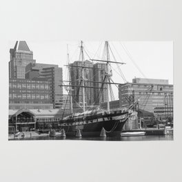 A US Frigate Ship in Baltimore, MD Rug