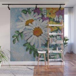 Wildflowers in a Jar Wall Mural