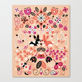 Bunny Lovers Canvas Print