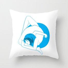 Back Bend Throw Pillow