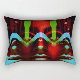 ThreeFaces Rectangular Pillow