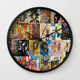Basquiat Montage Wall Clock