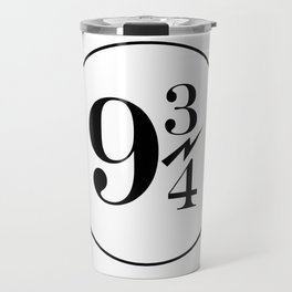 9 3/4 nine and three-quarters King's Cross Platform Train Station Harry Hogwarts Travel Mug