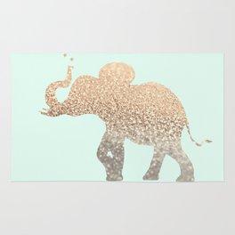 ELEPHANT - GOLD MINT Rug