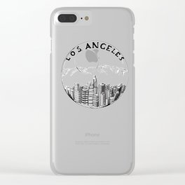 Los Angeles in a glass ball 2  ( https://society6.com/vickonskey/collection ) Clear iPhone Case