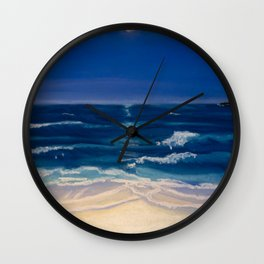 Night Beach Wall Clock
