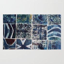 Quilt of a Sort in Blue Rug