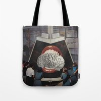 brain Tote Bags featuring Brain by •ntpl•