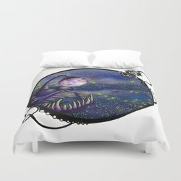 Meegan and the Moon Duvet Cover