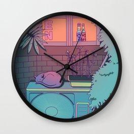 Ramune Cat Wall Clock