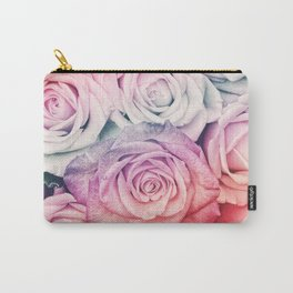 Some people grumble II  Floral rose flowers pink and multicolor Carry-All Pouch