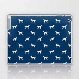 Irish Setter dog silhouette minimal dog breed pattern gifts for dog lover Laptop & iPad Skin