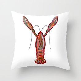 King Crawfish Throw Pillow