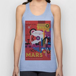 NASA Retro Space Travel Poster #9 Mars Unisex Tank Top