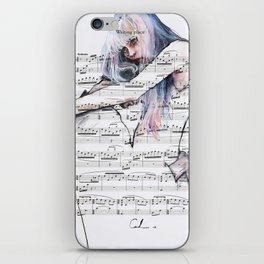Waiting Place on sheet music iPhone Skin