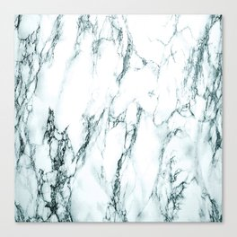 Green Marble Look Canvas Print