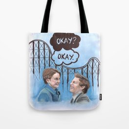 A roller coaster that only goes up Tote Bag