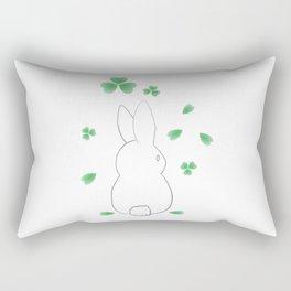 Spring Bunny Clovers Rectangular Pillow
