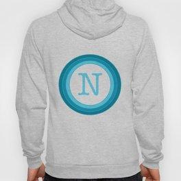 Blue letter N Hoody