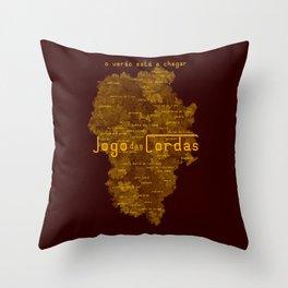 """Vaca - MP: """"Jogo das Cordas"""". Throw Pillow"""