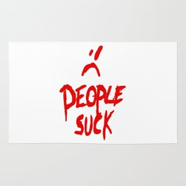People Suck red Rug