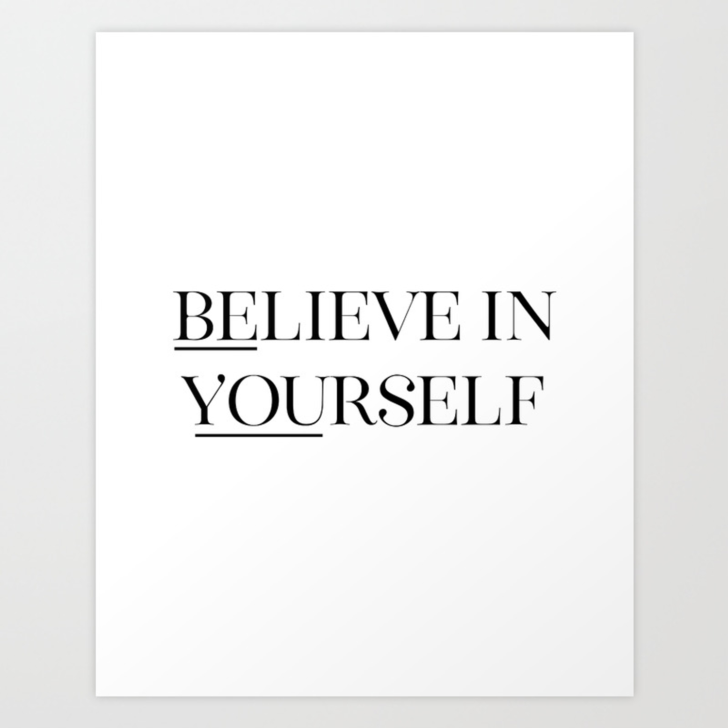 photograph about Printable Quotes Black and White referred to as Consider In just Your self, Black And White, Printable Quotation, Wall Artwork, Printable Quotation Artwork Print
