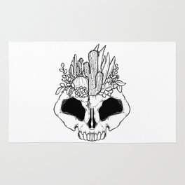GROW - Succulents in a skull Rug