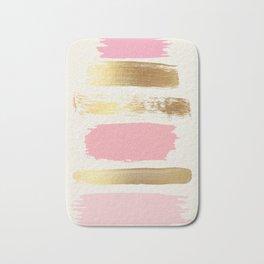 Brush Strokes (Rose/Gold) Bath Mat